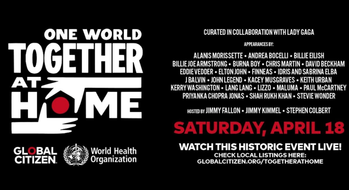 One World: Together at Home音樂會4月19日舉辦 全球直播